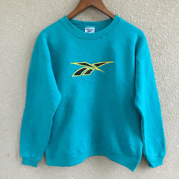 Vintage Usa REEBOK clothing men/women sweater/sweatshirts big logo embroidered size m