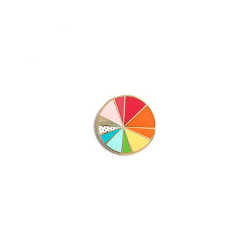 Color Wheel // rainbow, cloisonné, hard enamel, pin badge, enamel pin, lapel pin