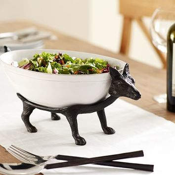 FIGURAL FOX BOWL STAND