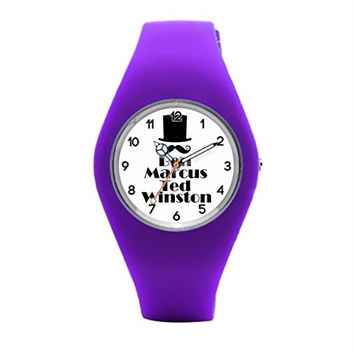 Allneed you Gentlemen Of The Road - Top Hat Mustache And Names Silicone Sport Watches