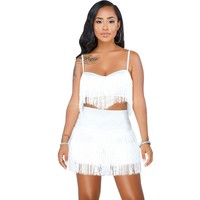 2 Piece Ladies Crop Top & Skirt Set