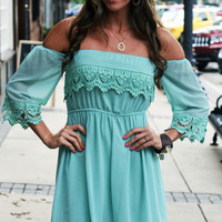 Off the Shoulder Mint Lace | Ally B