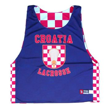 Croatia Lacrosse Sublimated Reversible Sublimated Pinnie