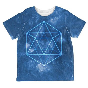 Sacred Geometry Icosahedron Crystal Wind All Over Toddler T Shirt