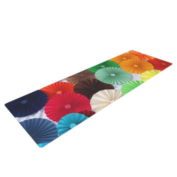 "Heidi Jennings ""Atonement"" Green Brown Yoga Mat"