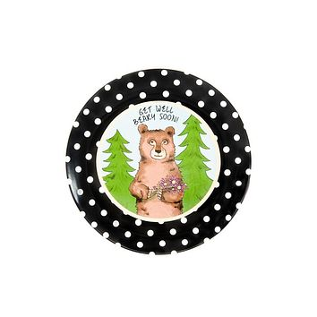 Get Well Beary Soon Ceramic Plate