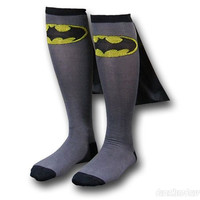 Superhero Adult Knee High Cape Sock Batman