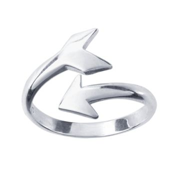 Sterling Silver Arrow Bypass Ring