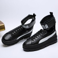 ONETOW Puma/ Fenty Rihanna High Top Sneaker Color Black