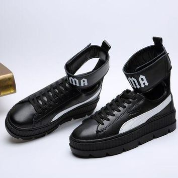 LMFNO Puma/ Fenty Rihanna High Top Sneaker Color Black
