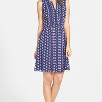 Women's Halogen Pleated Fit & Flare Dress,