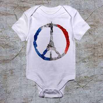 Pray For Paris Attack baby Onesuit, baby romper,baby jumpsuit