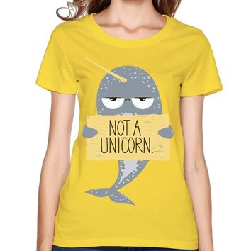 Narwhal Not A Unicorn Yellow T-Shirt