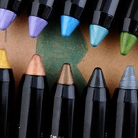 12 Color PVC Design Glitter Eyeliner Lipliner Eyebrow Pen Pencil Makeup Set = 1697168324