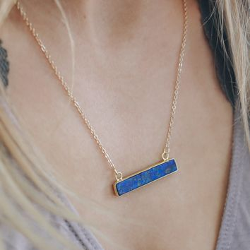 Chic Charm Necklace - Navy