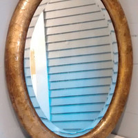 Antique, Mirror, Oval, Ornate, Gold, Wall Mirror, Framed Mirror