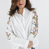 Izzy Embroidered Button Down