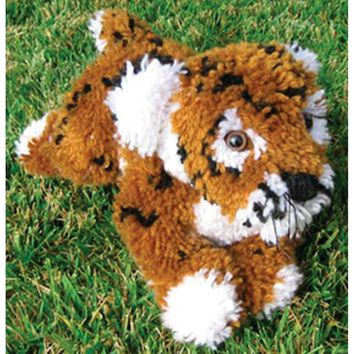 Tiger Huggables Stuffed Toy Latch Hook Kit 16""