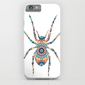 SPIDER SILHOUETTE WITH PATTERN iPhone & iPod Case by deificus Art