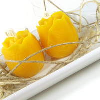 Love in Bloom scented Beeswax Votive Candles, Hand Poured Beeswax Votive Candle -- (2) 3 ounce Tulip - Shaped Votive Candles
