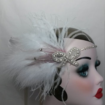Charleston, Flapper, roaring 1920s, Great Gatsby, ladies bridal, winter wedding headband, headdress, headpiece, Christmas party