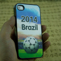 2014 brazil world cup 3D phone cover iphone 5 case skin iphone 4 cover, iphone 5s cover football iphone 4 case phone cover 5s women men case
