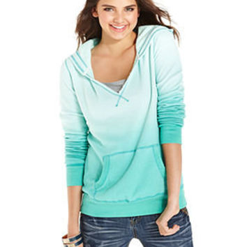 American Rag Juniors Top, Long Sleeve Ombre Hoodie - Juniors Tops - Macy's