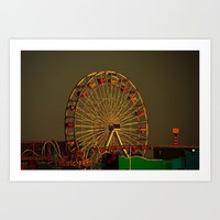 Pacific Park at sunset Art Print by Claude Gariepy