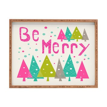 Heather Dutton Be Merry Rectangular Tray