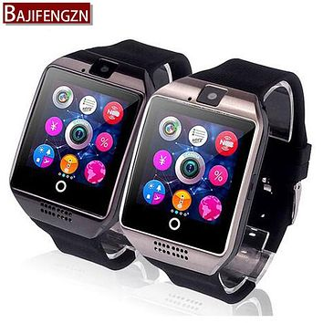 Smart Watch Q6 Plus Clock Sync Notifier Support Sim SD Card Bluetooth Connectivity Android Phone Smartwatch Alloy Smartwatch A9