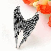 Angel's Wing Adjustable Ring (Antique Bronze) | LilyFair Jewelry