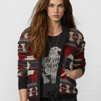 Patterned Red Cardigan