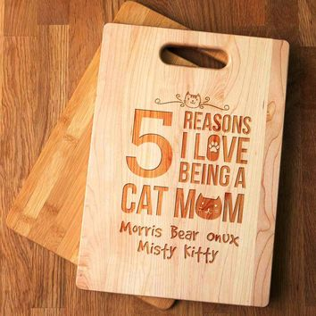 Cat Mom Cutting Board