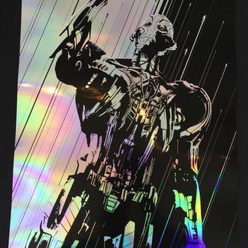 """""""Age of Ultron"""" Silver Foil by Oli Riches"""