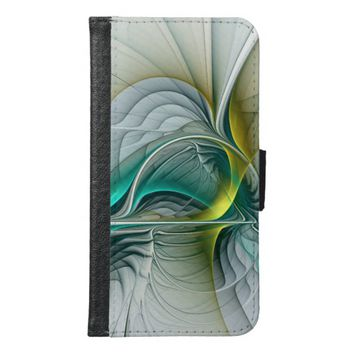 Fractal Evolution, abstract Art Wallet Phone Case For Samsung Galaxy S6