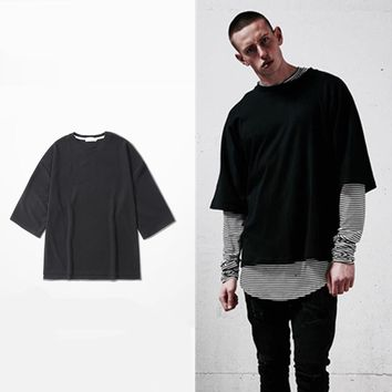 oversized t shirt streetwear mens