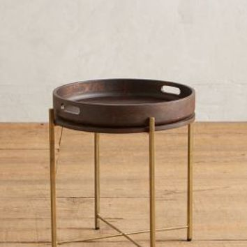 Ancona Tray Table by Anthropologie in Bronze Size: One Size Furniture