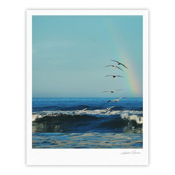 "Robin Dickinson ""I'll Follow"" Blue Coastal Fine Art Gallery Print"
