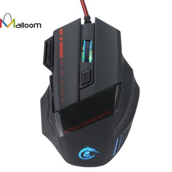 Malloom Gaming Mouse 5500 DPI 7D LED Optical USB Wired PRO Game Mouse For PC Laptop Gaming For High-End Player For CS Gift #201