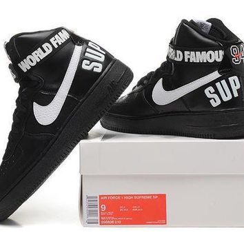 DCCKU62 Originals Nike AIR FORCE One 1 HIGH SUPREME SP AF1 HI Running Sport Casual Shoes 698696-010 Sneakers