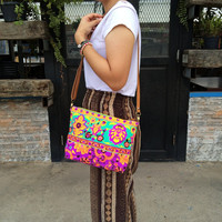 Hippie Crossbody Diaper bag Hobo Bag Sling Shoulder Bag Handbag Purse Hobo Neon Printed Purse Hippie Shoulder Hipster Weekender bag