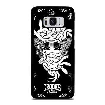 CROOKS AND CASTLES BLACK WHITE Samsung Galaxy S3 S4 S5 S6 S7 Edge S8 Plus, Note 3 4 5 8 Case Cover