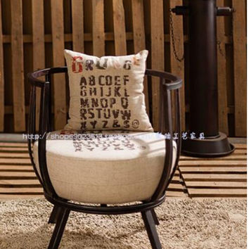 Tieyi sofa chair. Industrial wind restoring ancient ways sofa chair., wrought iron furniture.