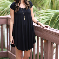 The Last Song Black V-Neck Short Sleeve Casual Dress