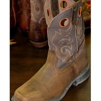 Laredo Washed Brown Street Cruisers Cowboy Boots 7424