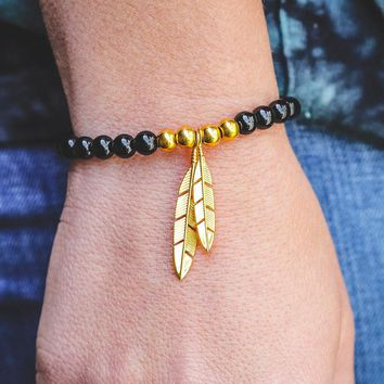 Mister Feather Bead Bracelet