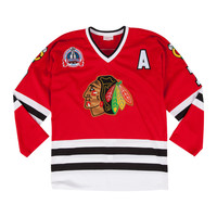 Mitchell & Ness Chris Chelios 1991-92 Authentic Jersey Chicago Blackhawks In Red