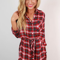 Warm Wishes Plaid Shirt Dress