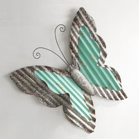 Turquoise Butterfly Wall Decor