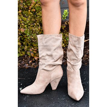 Rosa Suedette Heel, Taupe | Chinese Laundry